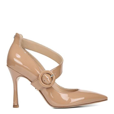 Sam Edelman Beige Patent Leather Hinda Pumps