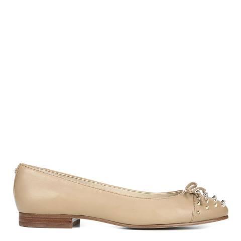 Sam Edelman Beige Leather Mirna Studded Ballet Flats