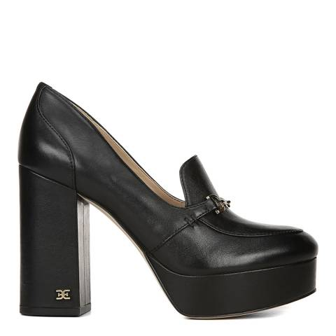 Sam Edelman Black Leather Aretha Platform Pumps