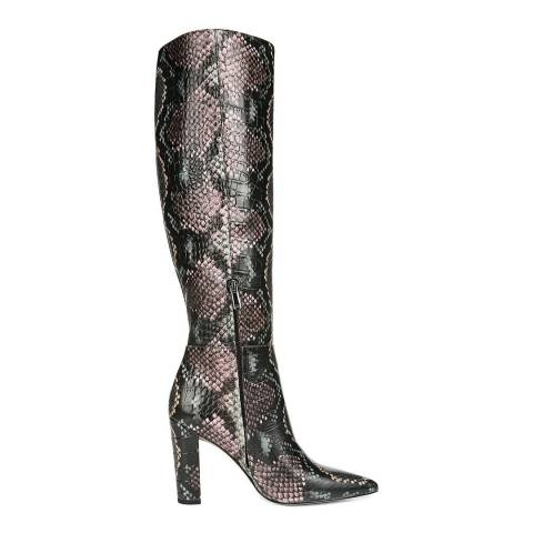 Sam Edelman Green Multi Snake Leather Raakel Knee High Boots