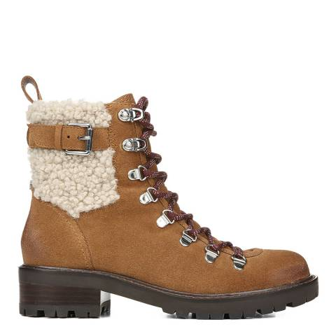 Sam Edelman Brown Suede Tenlee Hiker Ankle Boots