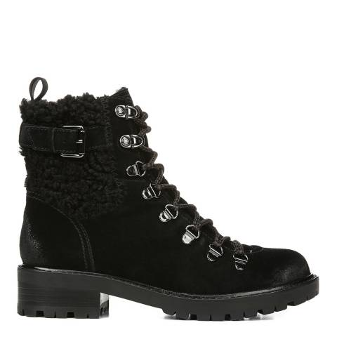 Sam Edelman Black Suede Tenlee Hiker Ankle Boots