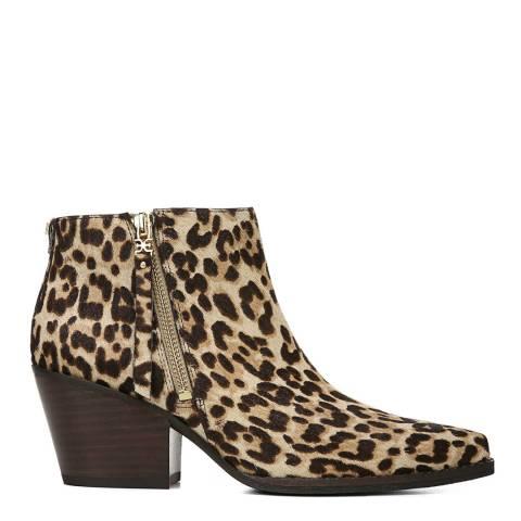 Sam Edelman Leopard Sand Walden Ankle Boots