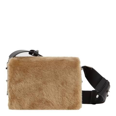 AllSaints Camel Versailles Lea Shoulder Bag