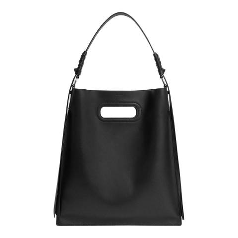 AllSaints Black Voltaire Flat Hobo Bag