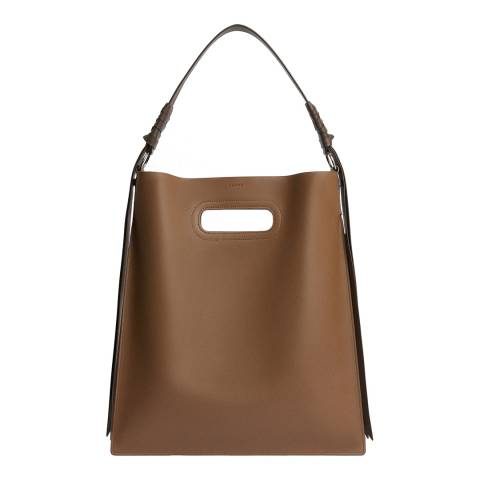 AllSaints Chocolate Voltaire Flat Hobo Bag