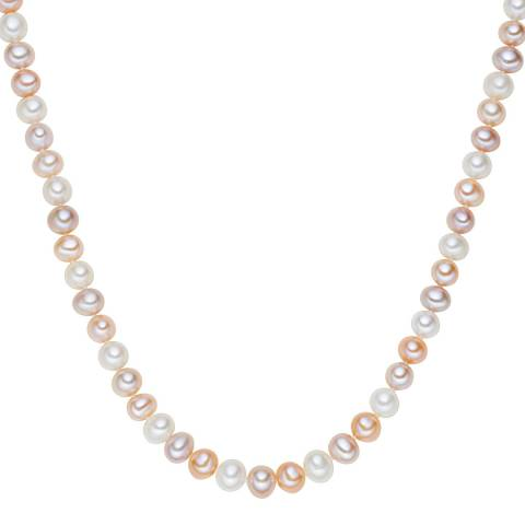 The Pacific Pearl Company White/Orange/Lilac Freshwater Pearl Necklace