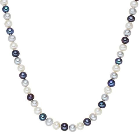 The Pacific Pearl Company Blue/White/Silver Pearl Necklace
