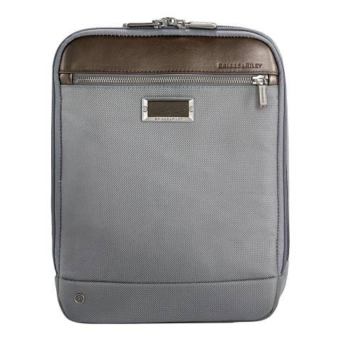 Briggs & Riley Grey Expandable Crossbody Bag