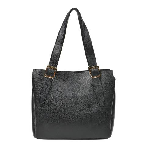 Renata Corsi Black Leather Tote Bag