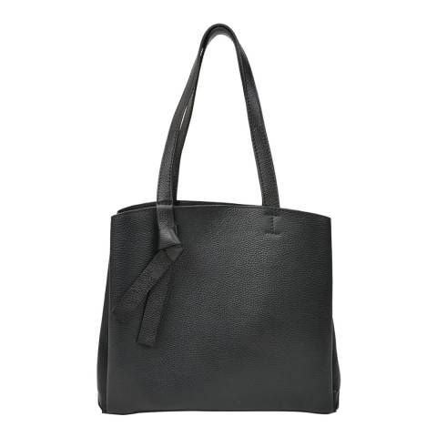 Renata Corsi Black Leather Shopper Bag