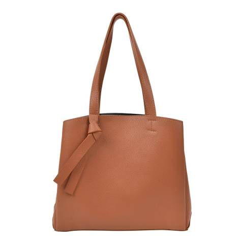 Renata Corsi Brown Leather Shopper Bag