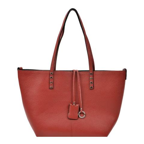 Renata Corsi Red Leather Shopper Bag