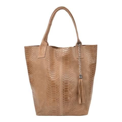 Renata Corsi Beige Leather Handbag