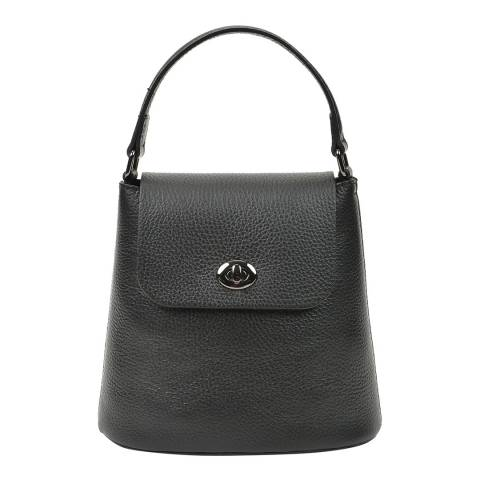 Renata Corsi Black Leather Handbag