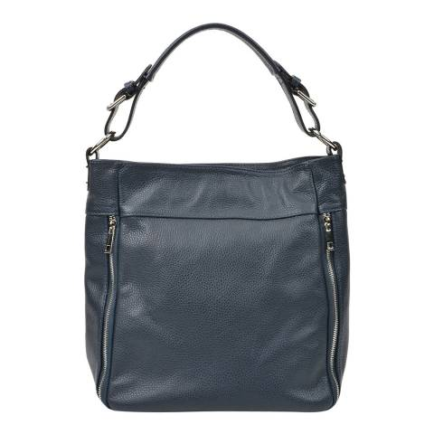 Renata Corsi Navy Leather Handbag