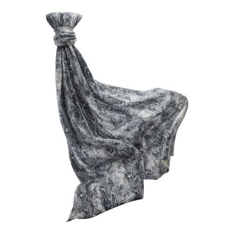 Pure Collection Charcoal Snakeskin Gassato Scarf