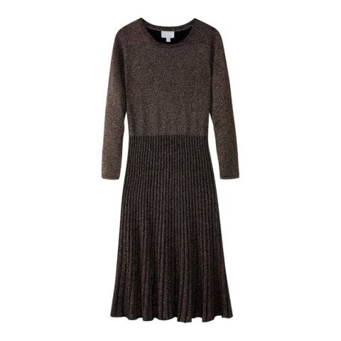 Pure Collection Black Sparkle Knitted Dress