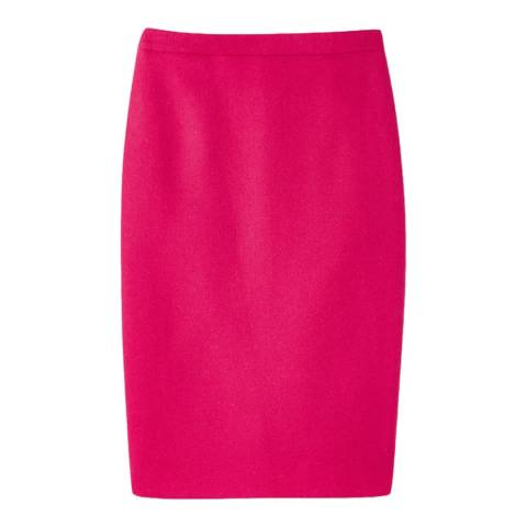 Pure Collection Bright Pink Wool Pencil Skirt