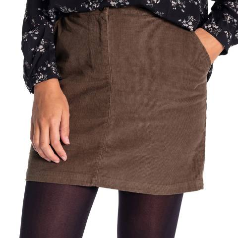 RUPERT & BUCKLEY Khaki Cary Needle Skirt