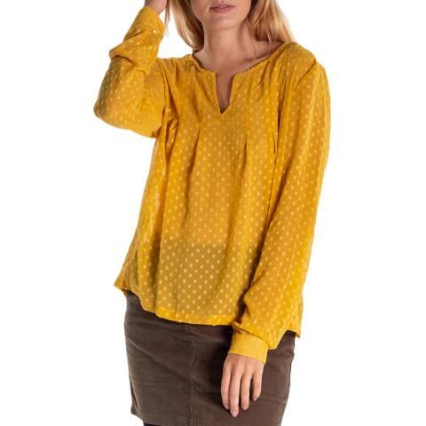 RUPERT & BUCKLEY Yellow Eileen Sheer Flowy Shirt