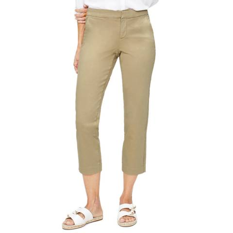 NYDJ Khaki Fitted Everyday Trousers