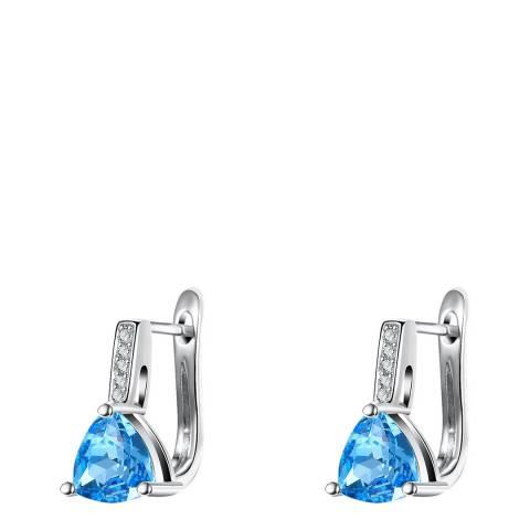 Ma Petite Amie Platinum Plated Sapphire Stud Earrings