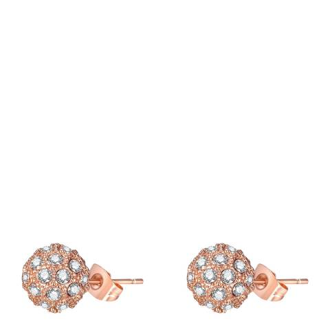 Ma Petite Amie Rose Gold Plated Round Earrings