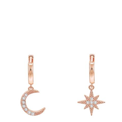 Ma Petite Amie Rose Gold Plated Star Earrings