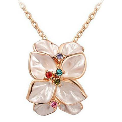 Ma Petite Amie Rose Gold Plated Flower Petal Necklace