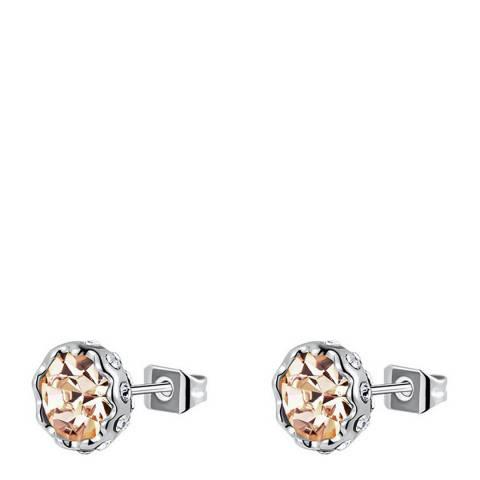 Ma Petite Amie Gold Plated Citrine Lotus Stud Earrings