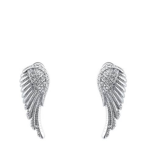 Ma Petite Amie Silver Platinum Plated Angel Wings Earrings