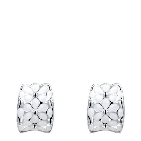 Ma Petite Amie Platinum Plated Tear Stud Earrings
