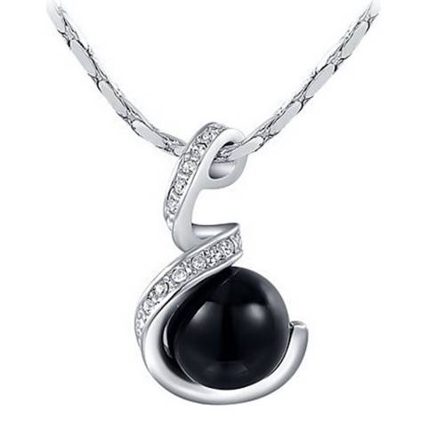 Ma Petite Amie Platinum Plated Pearl Necklace