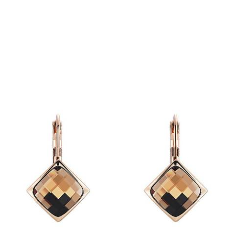 Ma Petite Amie Rose Gold Plated Citrine Earrings