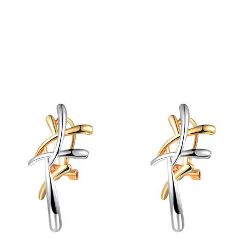 Ma Petite Amie Gold Plated Cross Earrings