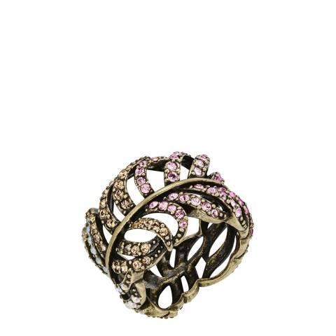 Saint Francis Crystals Gold Filigree Ring