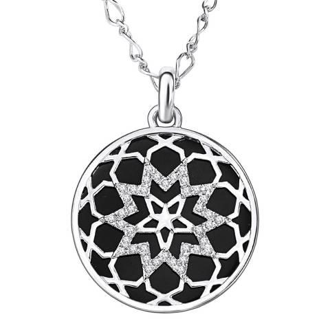 Saint Francis Crystals Silver/Black Crystal Filigree Necklace