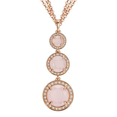 Saint Francis Crystals Rose Gold/ Pink Crystal Drop Necklace