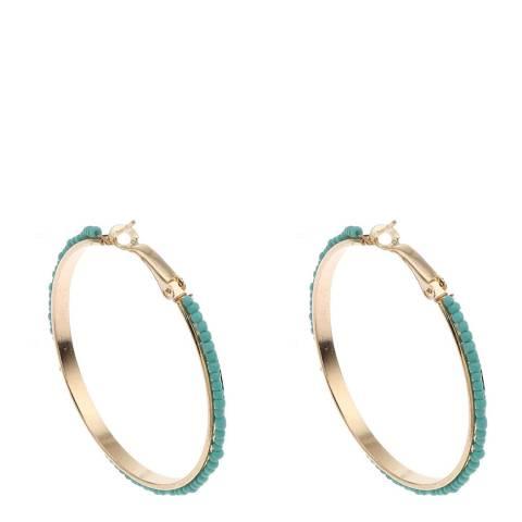 Liv Oliver 18K Turquoise Hoop Earrings