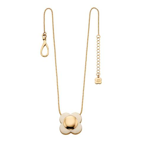 Orla Kiely Cream Gold Flower Necklace