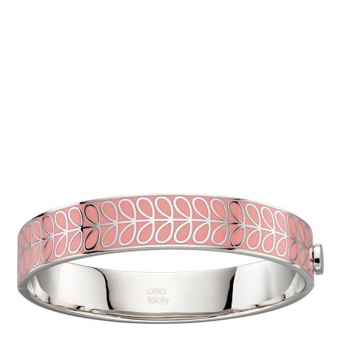 Orla Kiely Pink Enamel Stem Bangle