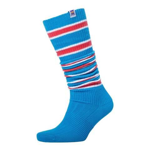 RUPERT & BUCKLEY Blue/Red Unisex Boot Socks
