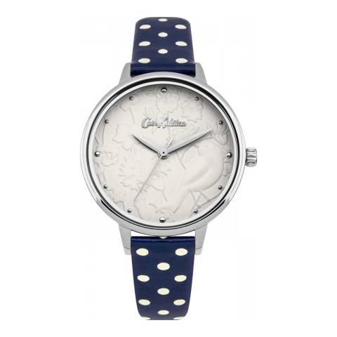 Cath Kidston Navy Polka Dot Strap Watch