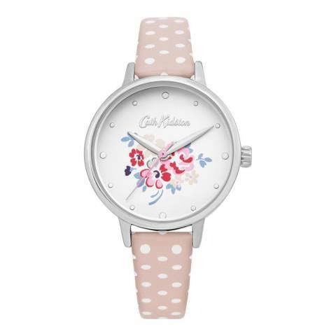 Cath Kidston Baby Pink Polka Dot Floral Watch