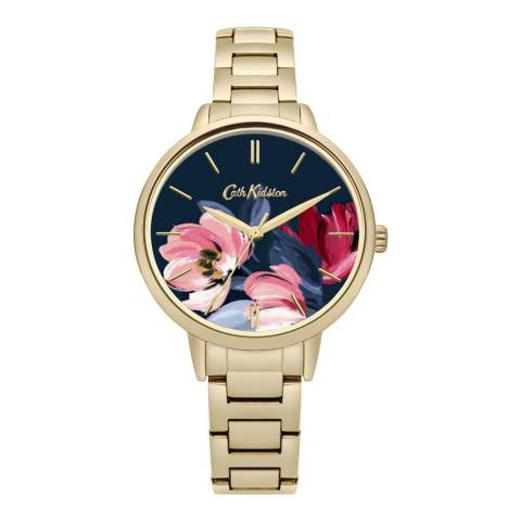 Cath Kidston Gold Floral Face Watch