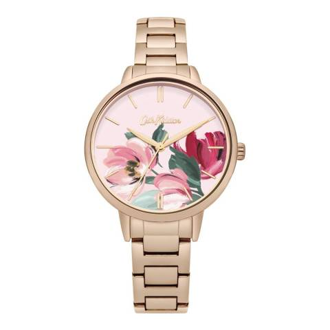 Cath Kidston Rose Gold Floral Face Watch