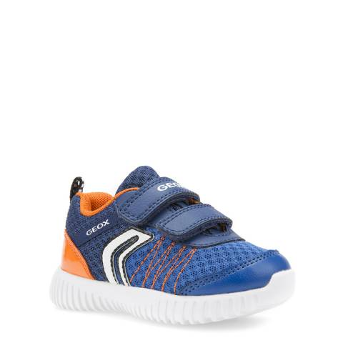 Geox Navy/Orange Velcro Trainer