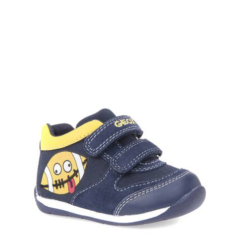Geox Navy/Yellow Velcro Trainer