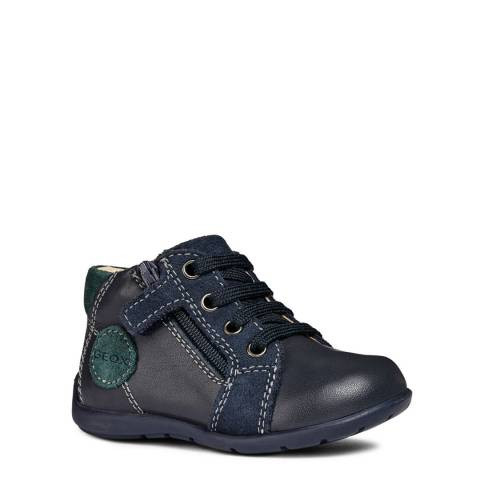 Geox Black Lace Up Low-Top Boots